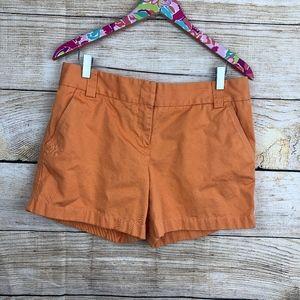 orange J. Crew chino shorts size 8 // P38